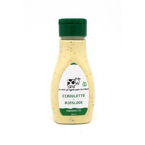 Vinaigrette ciboulette bio 150 ml  (La vache qui regarde passer les trains)
