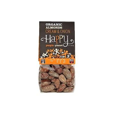Amandelen bio zout & peper 100 g (Happy People Planet)
