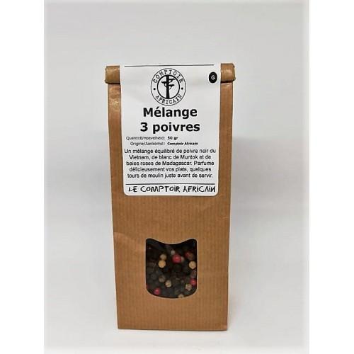 Mélange 3 poivres  50 g (Comptoir africain)