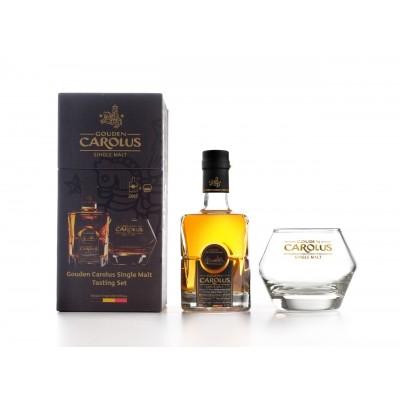 Coffret Whisky Gouden Carolus Single Malt 50 cl + 2 verres  (Distillerie Het Anker)