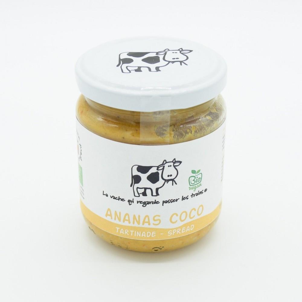 Tartinade ananas coco bio 190 g (La vache qui regarde passer les trains)