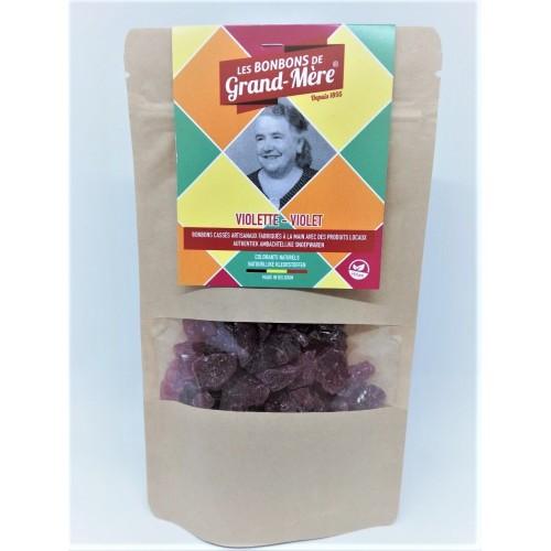 Bonbons à la violette cassés à l'ancienne 150 g (Bonbons de Grand-Mère)