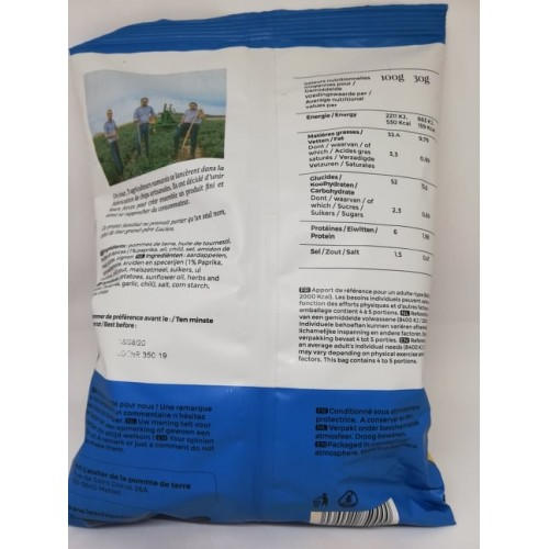 Les chips de Lucien Paprika 125 g