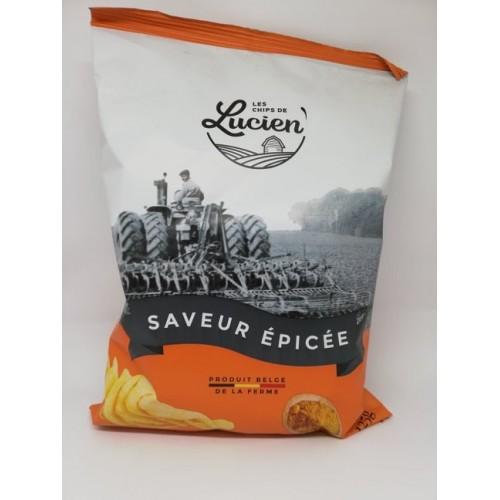 Les chips de Lucien Saveurs épicées 125 g