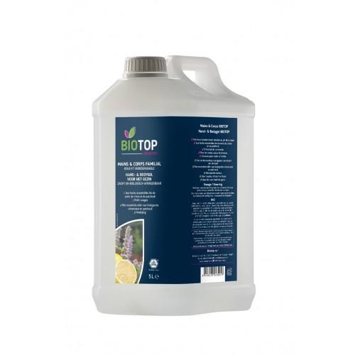 Gel lavant pour mains et corps 1 litre (Biotop)