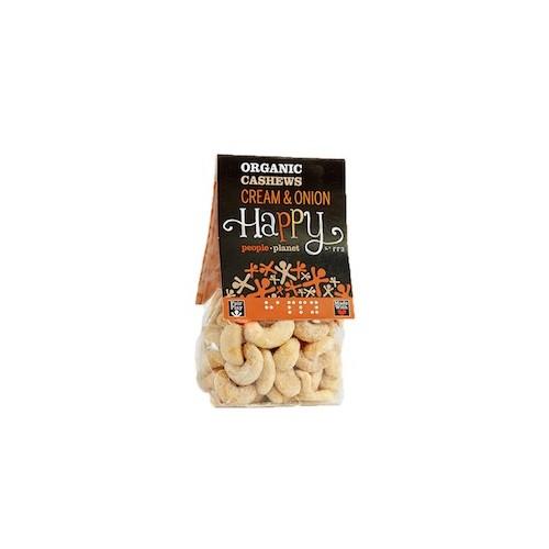 Noix de cajou crème et oignons bio 100 g (Happy People Planet)