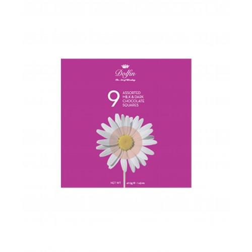 Boîte 9 carrés gourmands Fleurs (Dolfin)