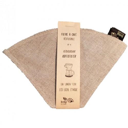 filtre à café en lin  (Bag to green)