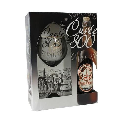 Coffret Val-Dieu cuvée 800 75 cl + 1 verre