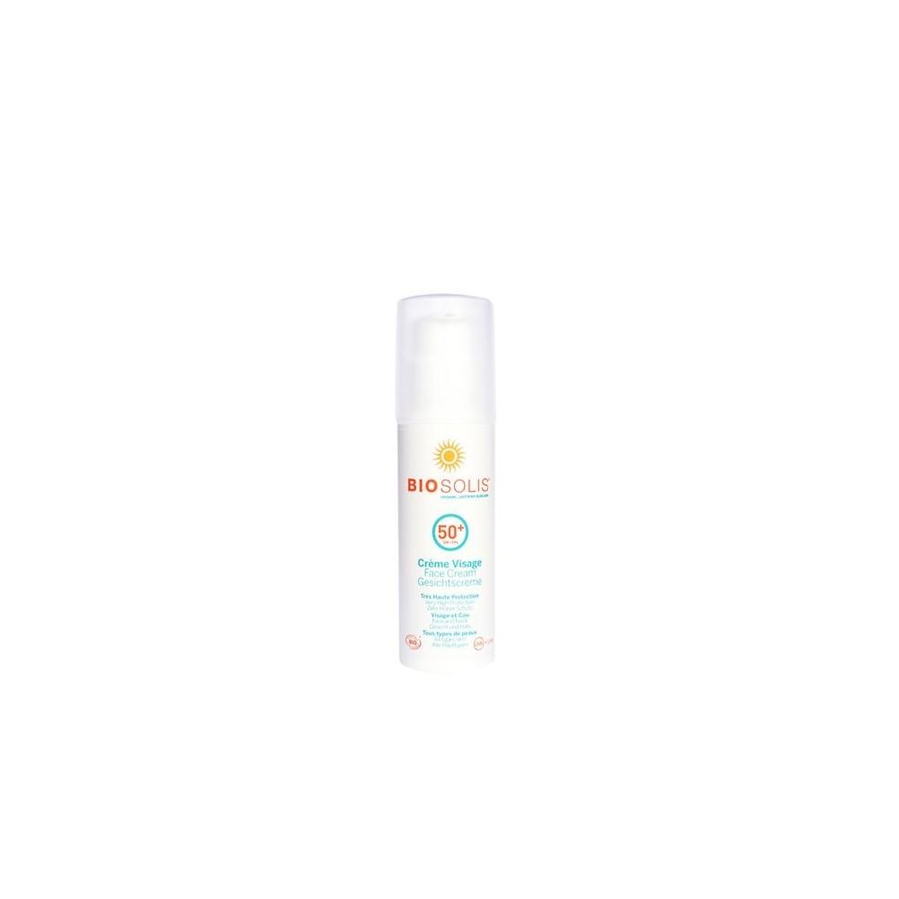 Crème visage bio 50 SPF 50 ml (Biosolis)