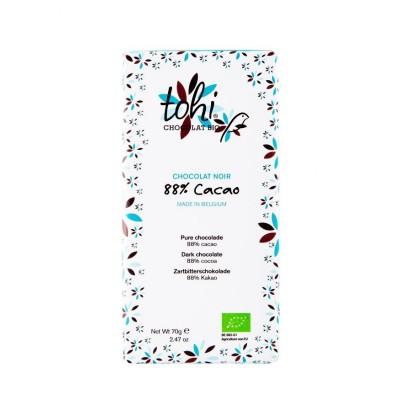 Chocolat noir 74% bio aux amandes salées bio (Tohi)