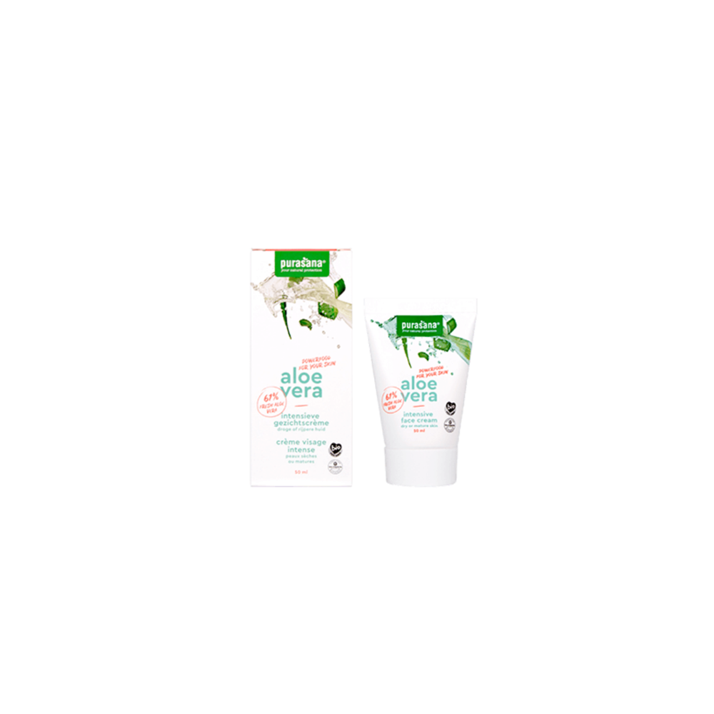 Crème visage intensive Aloé Vera  bio 50 ml (Purasana)