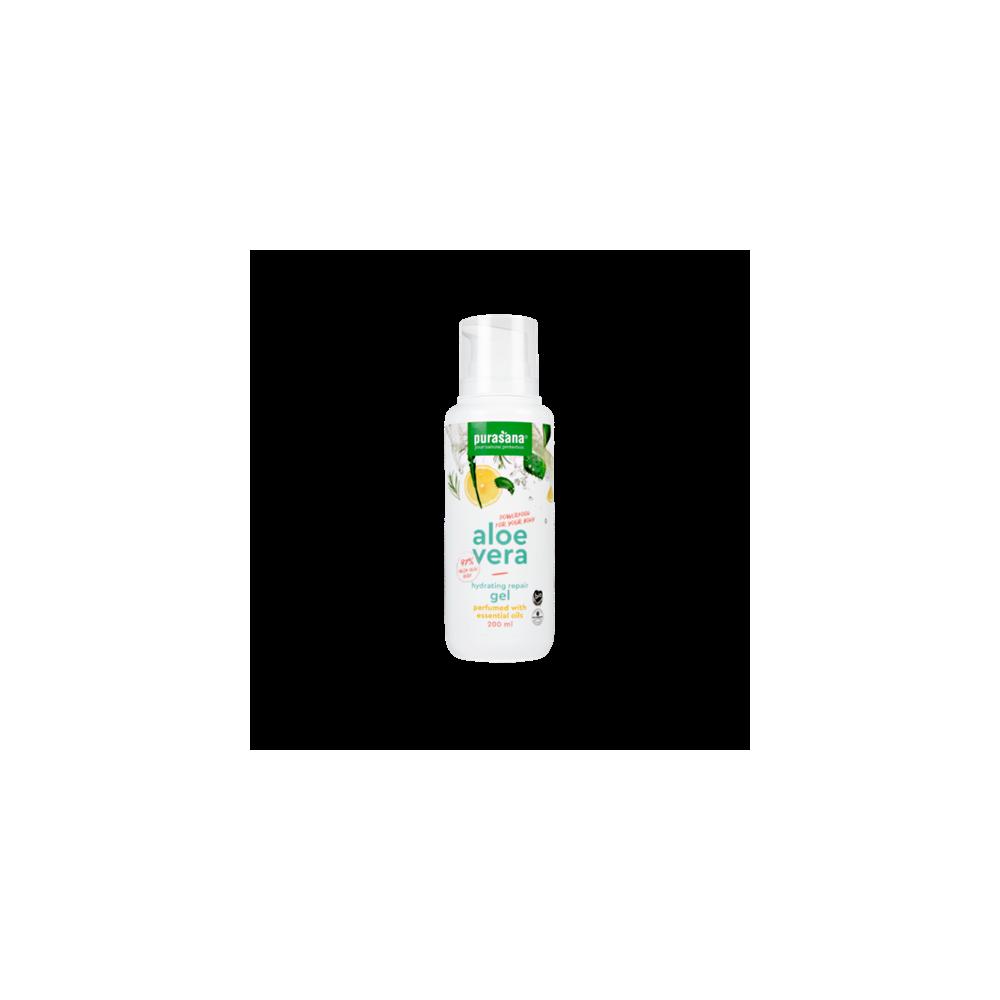 Aloe vera pur gel (97%) à l'huile essentielle (Purasana)