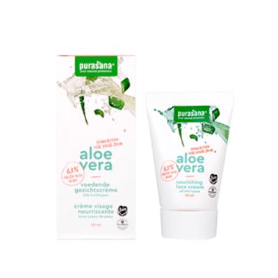 Crème visage nourrissante aloé vera (63%) 50 ml (Purasana)