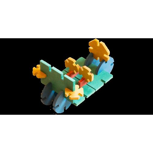 Jouet en bois - module voiture (Euclide)