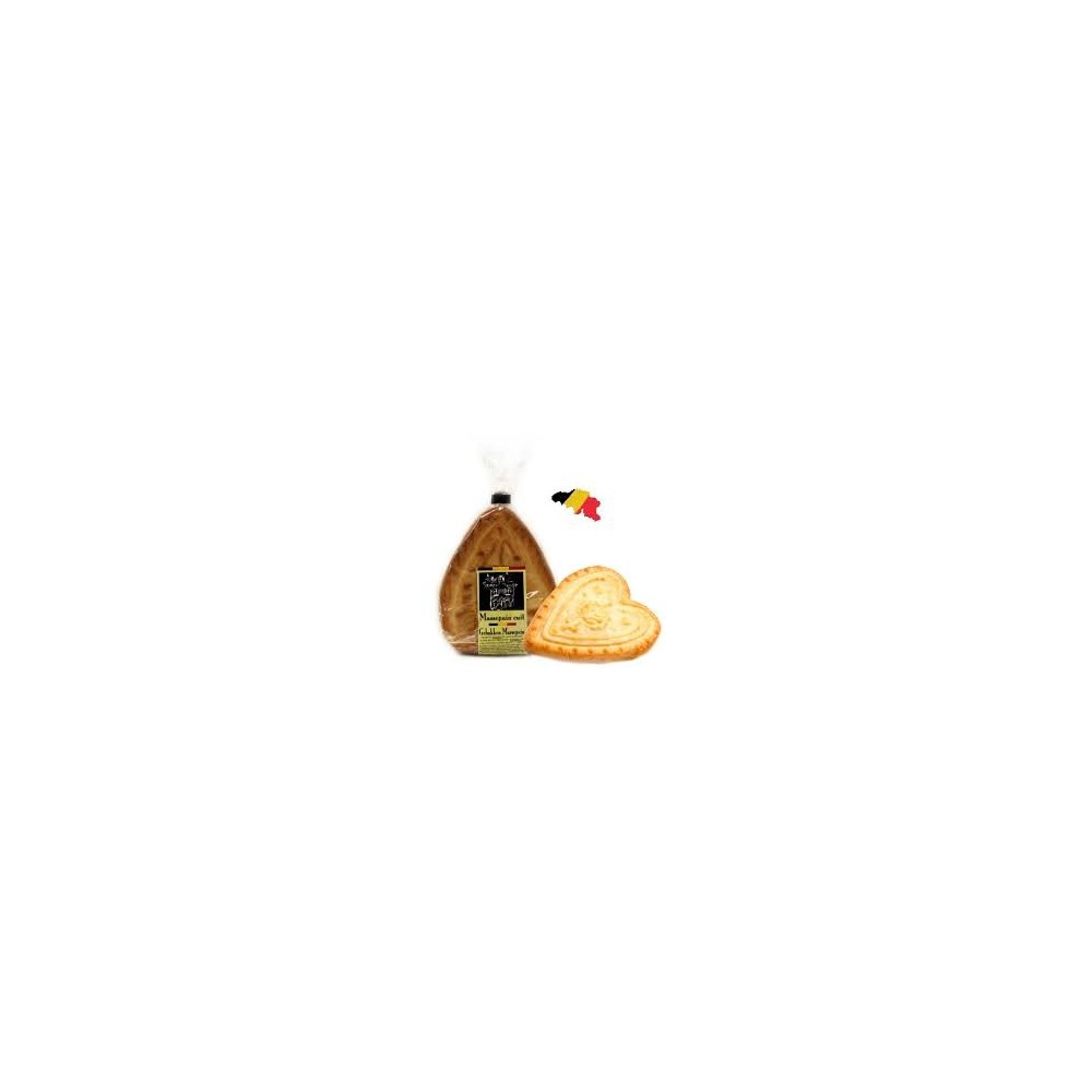 Grote hartvorm gebakken marsepein 180g  (Specul'House)