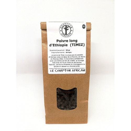 Poivre long d'Ethiopie 50 g (Comptoir africain)