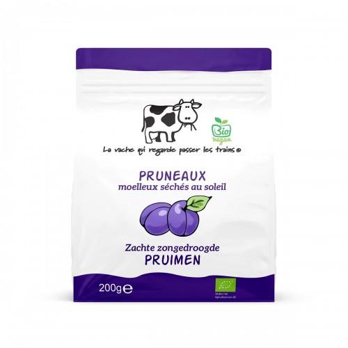 Pruneaux moelleux séchés bio  200 g (La vache)