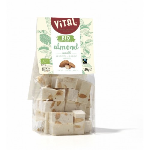 Bio&Fairtrade nougat amandel & vanilla 150 g (Vital)