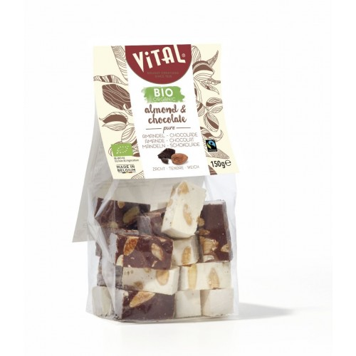 Nougat amandes, vanille & chocolat 150 g (Vital)