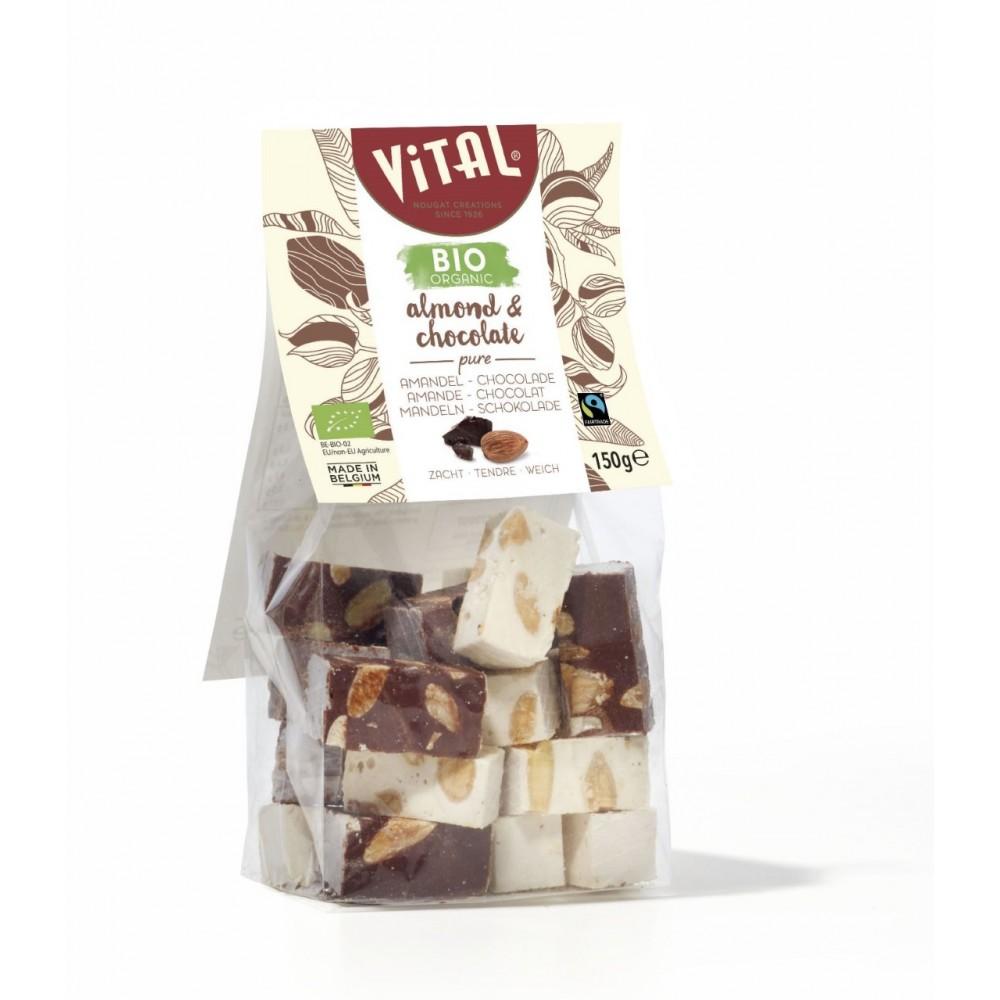 Nougat amandel & chocolade bio (Vital)