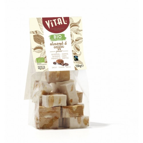 Nougat amandes, vanille & coffee bio 150 g (Vital)