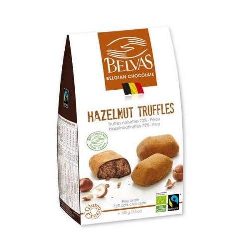 Truffels praliné bio/Fairtrade 100 g (Belvas)