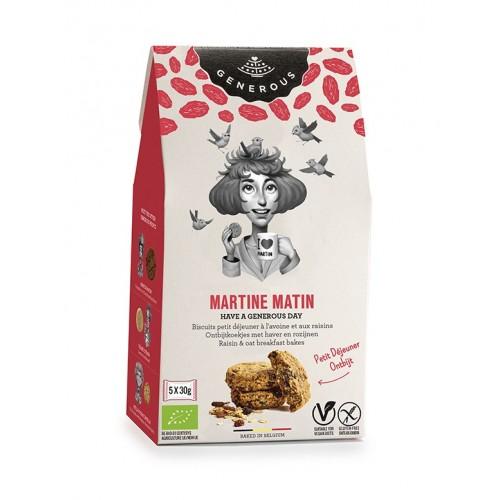 Biscuits petit déjeuner à l'avoine et raisin bio 150 g (Generous)
