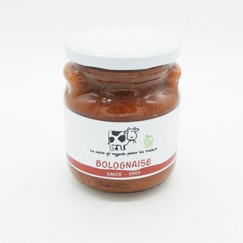 Boulettes sauce tomate bio (La vache qui regarde passer les trains)