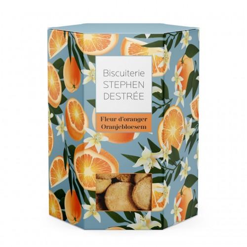 Orange bloemen koekjes