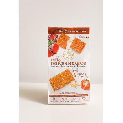 Crackers fleur de sel & pompoenzaad 90 g (Yuma)