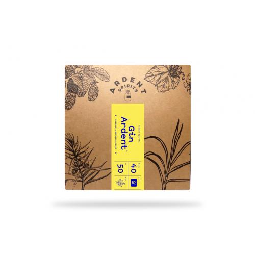 Gin  ardent bio 50 cl box (Distillerie Radermacher)