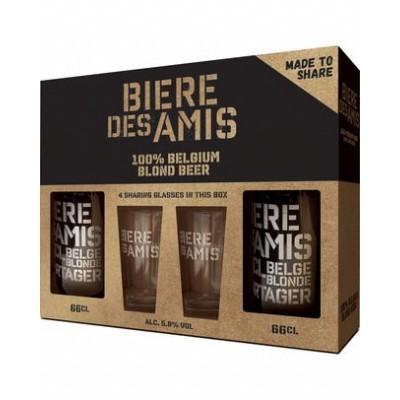 Coffret bière des amis 66 cl + 2 verres (Brasserie des légendes)