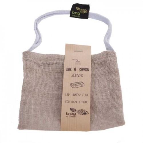 Katoenzak voor zeep  (Bag to green)