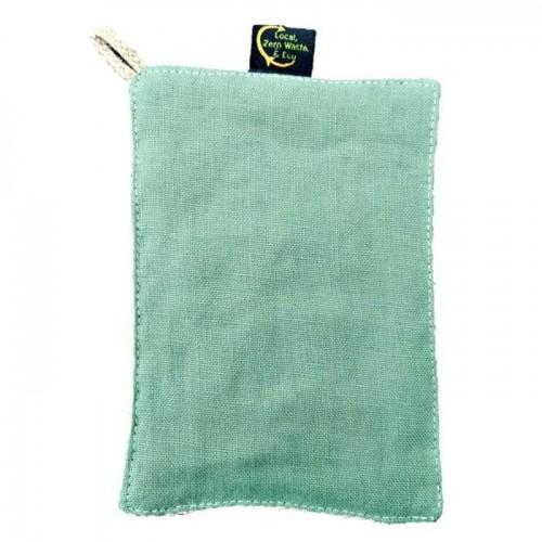 Lave-tout en lin et filet de coton bio 11x16cm