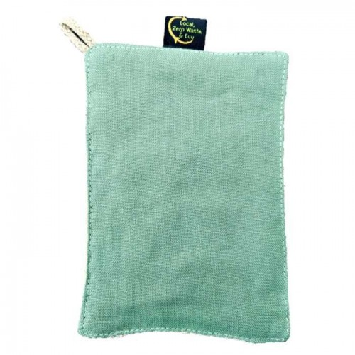 Lave-tout en lin et filet de coton bio 11x16cm (Bag to Green)