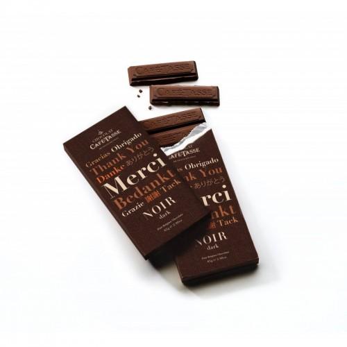 Extra pure chocolade 77 % cacao 45 g (Café-Tasse)