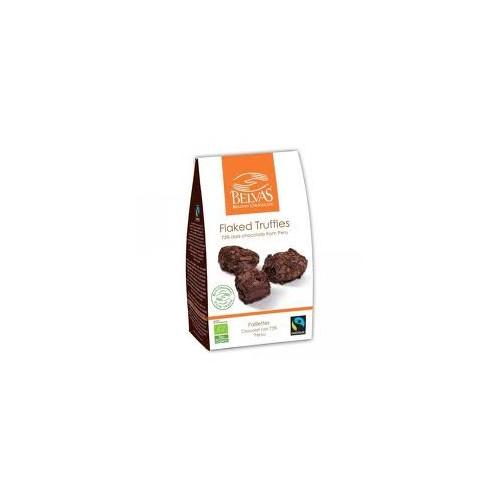 Truffes paillettes 73% chocolat noir  bio&Fairtrade/Belvas