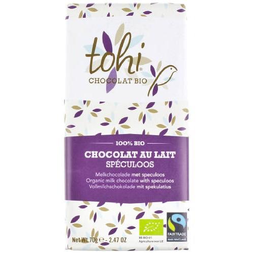 Chocolat BIO lait spéculoos(Dolfin
