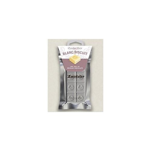 Chocolat blanc aux biscuits fins 35 g (Zaabär)