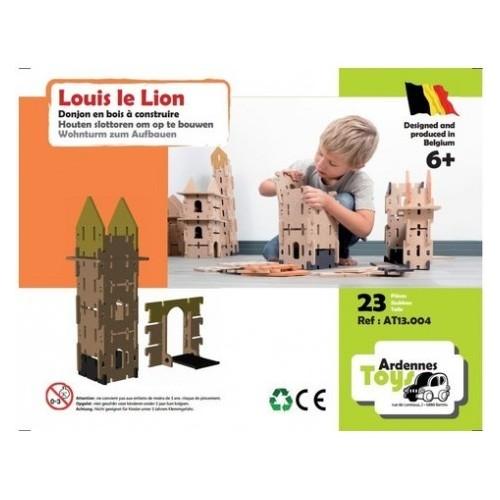 Kasteeltoren Lodewijk de Leeuw - 15 onderdelen + Hefbrug - 8 onderdelen (Ardennes toys)
