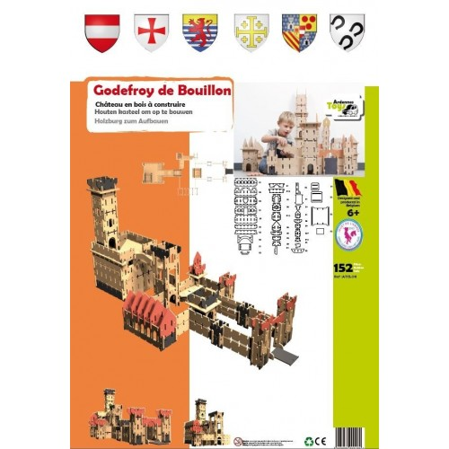 Kasteel Godfried van Bouillon 152 delig  (6 +) Ardennes Toys