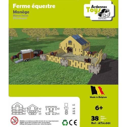 Ferme équestre - manège (38 pces) (6 +) Ardennes Toys